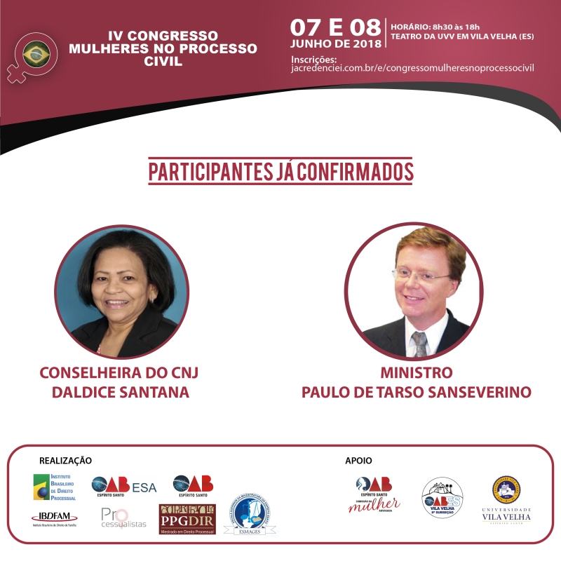 Em Vila Velha, começa o IV Congresso Mulheres no Processo